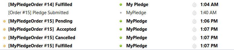 email order status